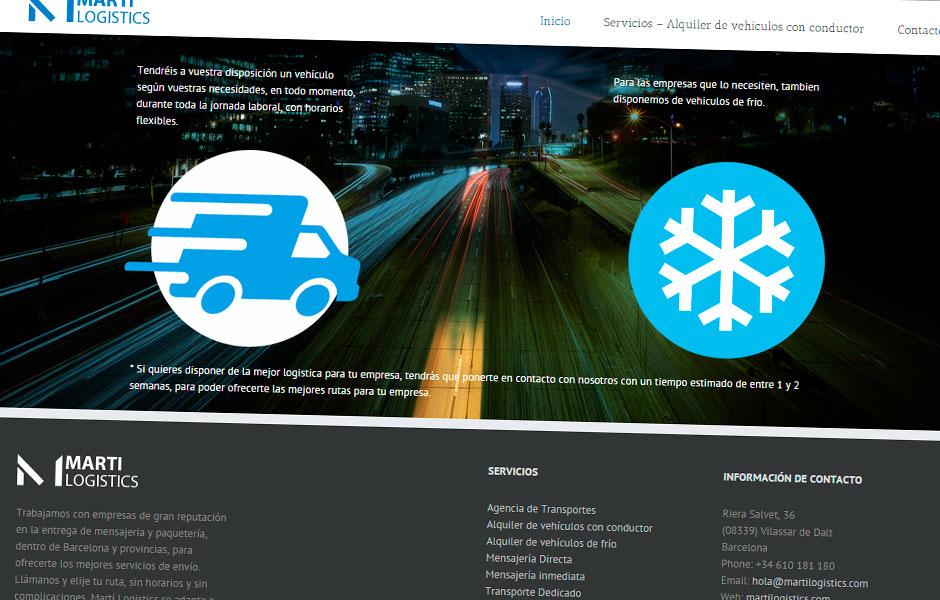 Martí Logistics Servicios | bcnwebteam.com