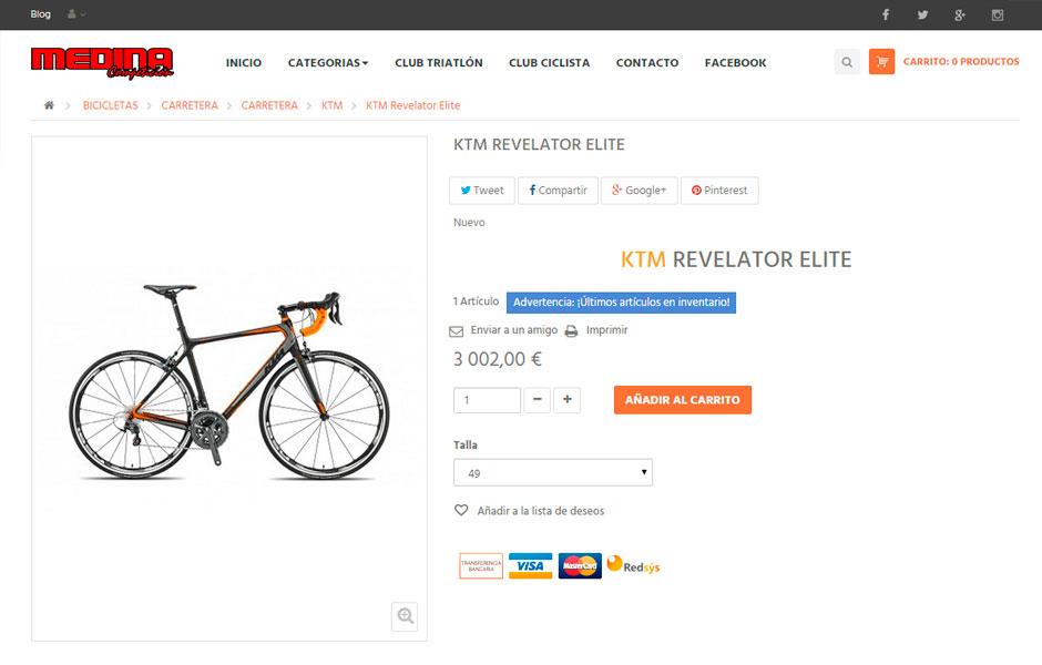Medina Bicis Productos | bcnwebteam.com