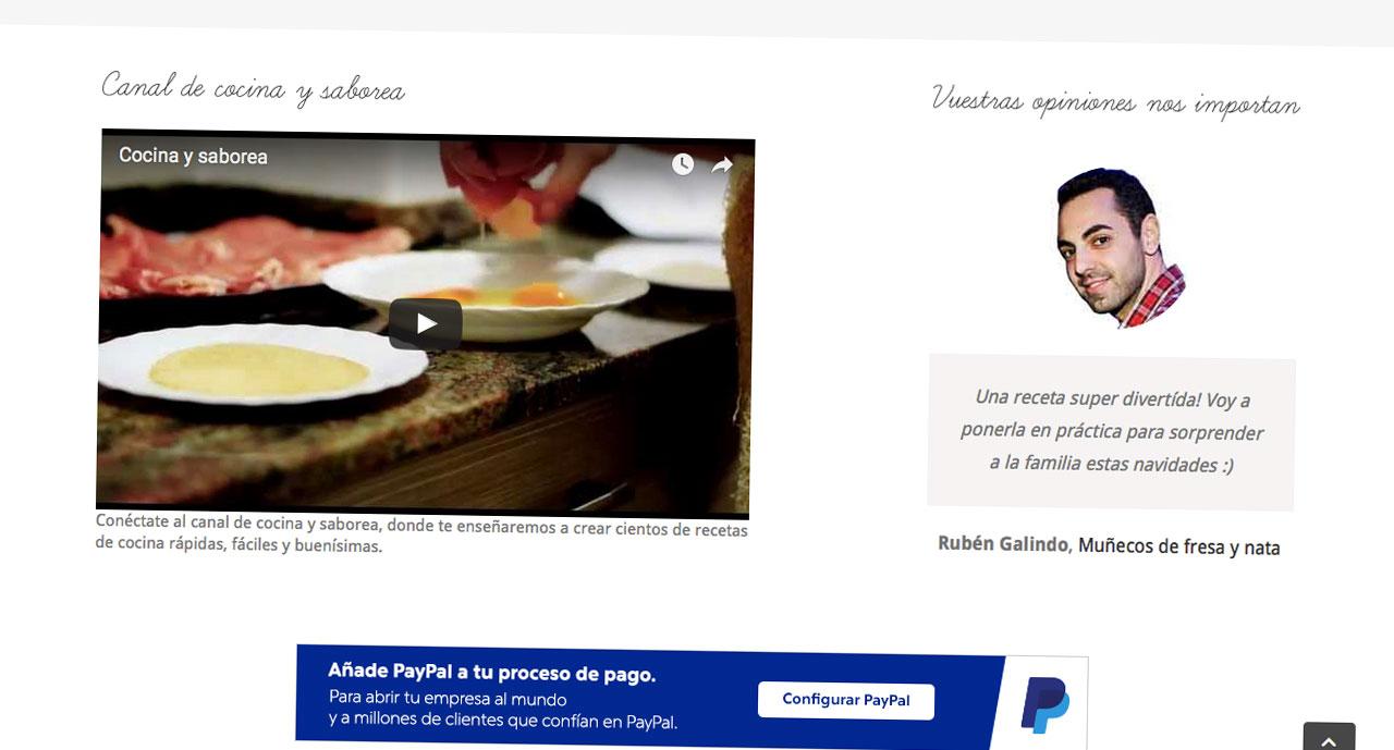 Cocina y Saborea | Vídeo en home | bcnwebteam.com