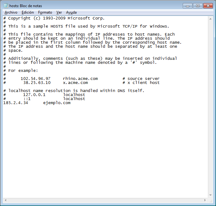 Ver web sin dominio paso 3 | bcnwebteam