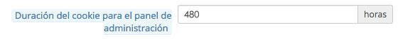 Cómo alargar tiempo sesión Prestashop configuración 480 admin | bcnwebteam