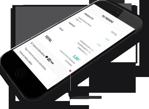 Aplicación responsive | origenvegano móvil